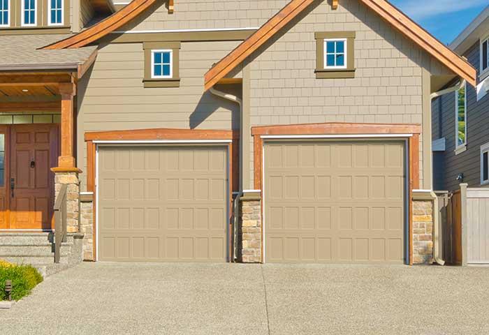 Exterior photo of Residential Steel Recessed Panel Garage Door