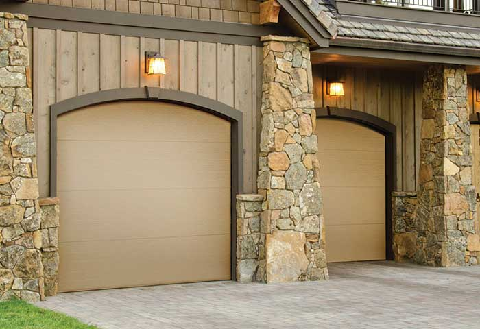 Exterior photo of Residential Steel Flush Panel Garage Door