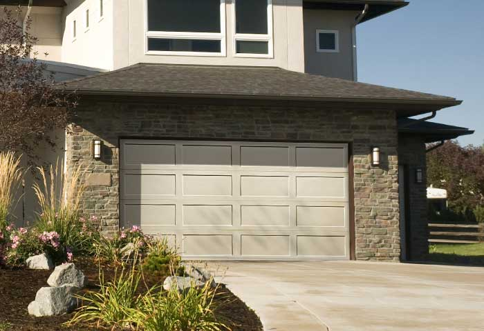 Exterior photo of Residential Steel Recessed Panel Garage Door