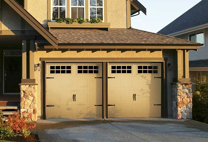 Exterior photo of Residential Steel Carriage Style Garage Door