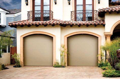 Exterior photo of Residential Steel Flush Panel Garage Door