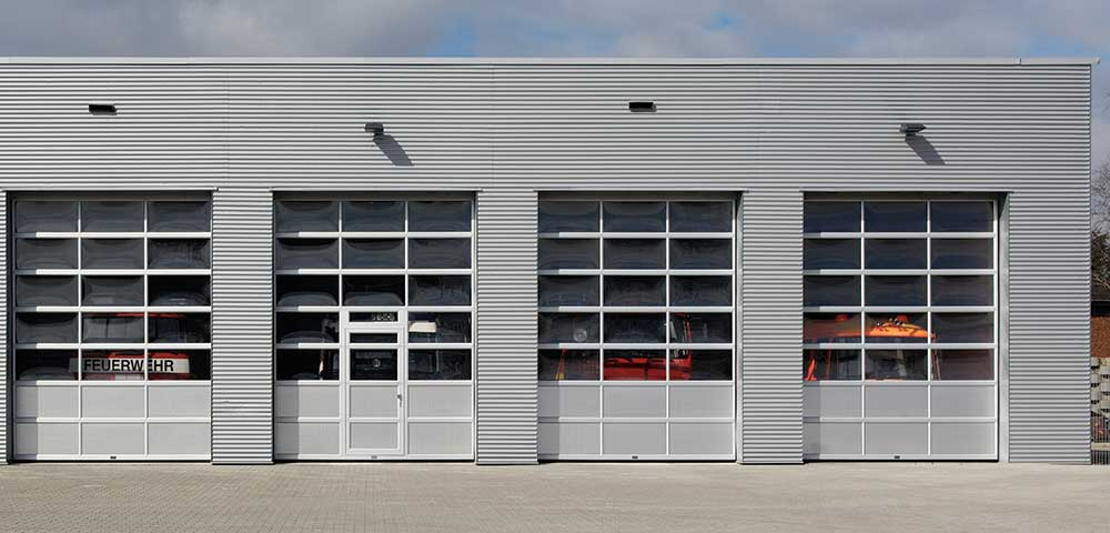 Exterior photo of Full-View Commercial Garage Door
