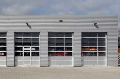 Exterior photo of Full-View Commercial Garage Door