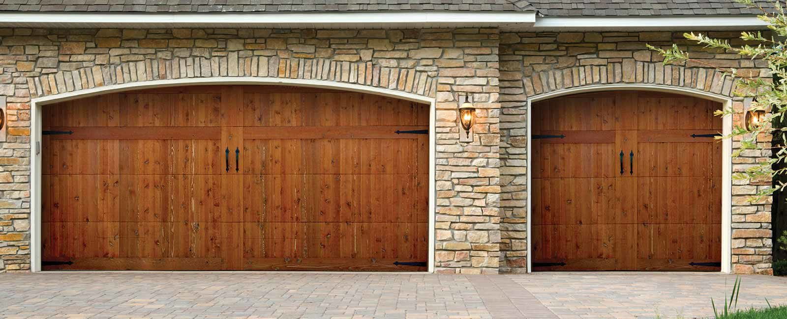 Exterior photo of Residential wood overlay Garage Door