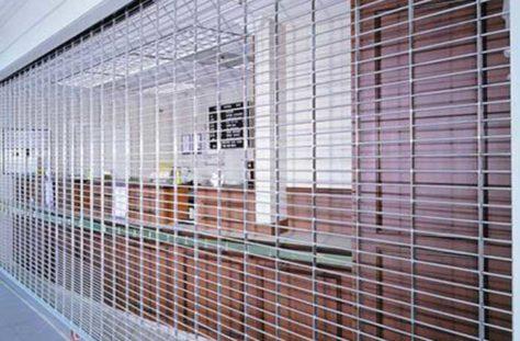 Exterior photo of a Rolling Grille Garage Door